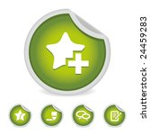 green round social blog icons ... | Shutterstock .eps vector #24459283