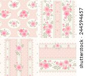 seamless floral backgrounds and ... | Shutterstock .eps vector #244594657