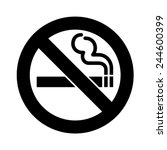 no smoking sign vector | Shutterstock .eps vector #244600399
