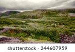 arctic  polar hills  fjel ... | Shutterstock . vector #244607959
