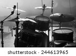 drum set on stage in a concert...   Shutterstock . vector #244613965