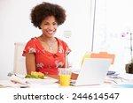 woman working in design studio... | Shutterstock . vector #244614547