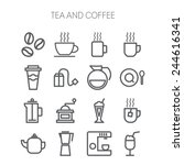 set of simple icons for... | Shutterstock .eps vector #244616341