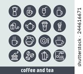 set of simple icons for... | Shutterstock .eps vector #244616671