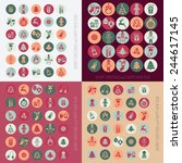 christmas icons set | Shutterstock . vector #244617145