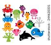 Cute Sea Animals. Great For...