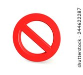 no sign   isolated on white... | Shutterstock . vector #244622287