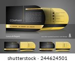 one side rounded business card...   Shutterstock .eps vector #244624501