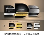 square business cards with one... | Shutterstock .eps vector #244624525