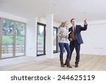 estate agent showing... | Shutterstock . vector #244625119