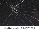broken black glass   Shutterstock . vector #244625791