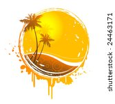 sun splash   raster version of... | Shutterstock . vector #24463171