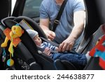 Father Fasten His Little Son I...