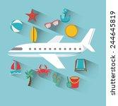 airplane travel design  vector... | Shutterstock .eps vector #244645819