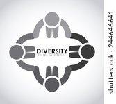diversity concept design ... | Shutterstock .eps vector #244646641