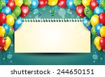 banner with balloons and... | Shutterstock . vector #244650151