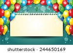 banner with balloons and... | Shutterstock .eps vector #244650169