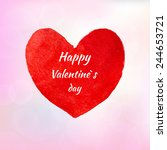 greeting card valentine's day... | Shutterstock .eps vector #244653721