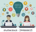 creative  business and teamwork ... | Shutterstock .eps vector #244666615