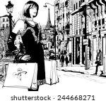Women Shopping In Paris  ...