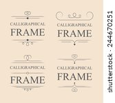 vector calligraphic frame