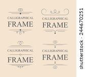 vector calligraphic frame... | Shutterstock .eps vector #244670251
