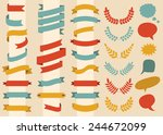 beg vector set of ribbons ... | Shutterstock .eps vector #244672099