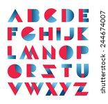 modern font abc alphabet set  | Shutterstock .eps vector #244674007