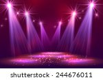 spotlights on stage with smoke  ... | Shutterstock .eps vector #244676011