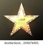 star retro light banner. vector ...