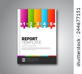 modern vector abstract brochure ... | Shutterstock .eps vector #244677151