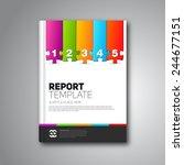 modern vector abstract brochure ... | Shutterstock .eps vector #244677151
