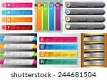 colorful modern text box... | Shutterstock .eps vector #244681504