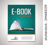 e book cover design | Shutterstock .eps vector #244683259