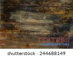 vector wood texture. background ... | Shutterstock .eps vector #244688149