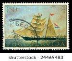vintage stamp depicting a... | Shutterstock . vector #24469483
