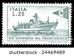 vintage italian stamp depicting ... | Shutterstock . vector #24469489