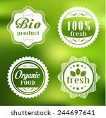 eco labels set | Shutterstock .eps vector #244697641