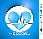 medical symbol render | Shutterstock . vector #244700599