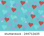 abstract heart pattern... | Shutterstock .eps vector #244712635