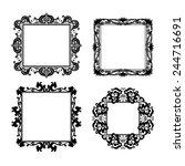 silhouette carved frame for... | Shutterstock .eps vector #244716691