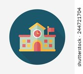 building school flat icon with...   Shutterstock .eps vector #244721704