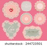 vintage elegant label | Shutterstock .eps vector #244723501