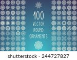 round ornaments collection.... | Shutterstock .eps vector #244727827