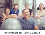 smiling happy fit senior man in ... | Shutterstock . vector #244733575