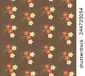 floral small flowers seamless... | Shutterstock .eps vector #244735054