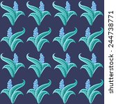 vector seamless floral pattern... | Shutterstock .eps vector #244738771