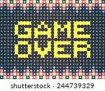 game over screen saver. vector...