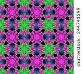 purple and green ornamental... | Shutterstock . vector #244741399