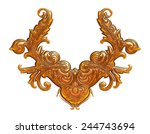 mix colored ornament design in... | Shutterstock . vector #244743694